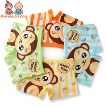 4pairs/lot Cotton Boys Boxer Underpants  Cute Kids  Boxer Children Underwear ATNM0052