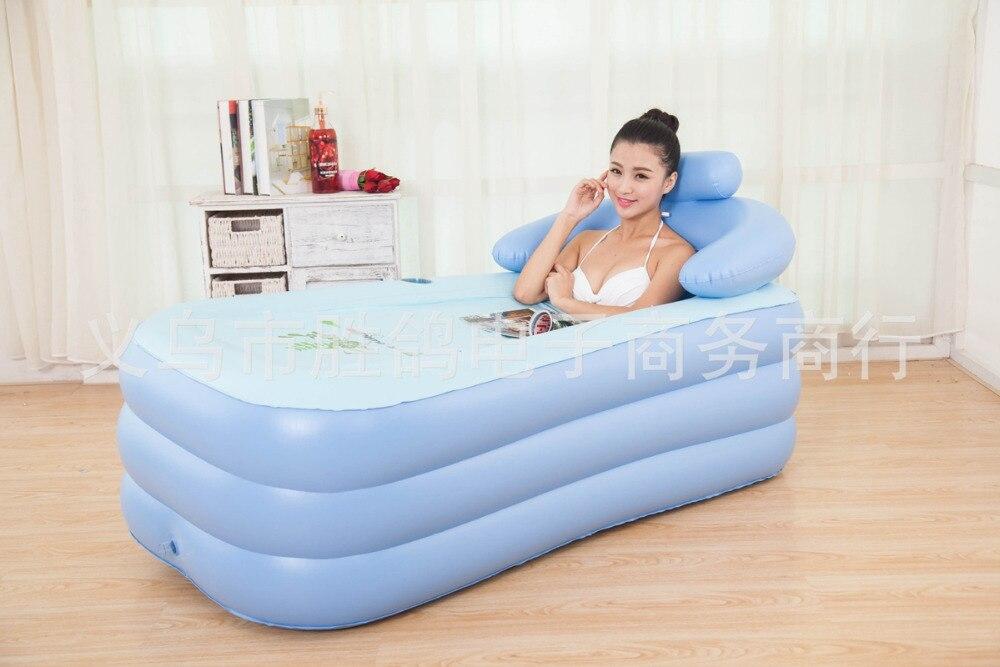 Inflatable Pool adult children keep warm Bathtub Portable bath tub folding family Bathtub 160x84x64CM