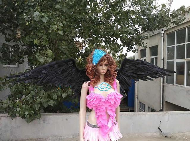Zwarte duivel vleugels spel cosplay props fee engelenvleugels mode