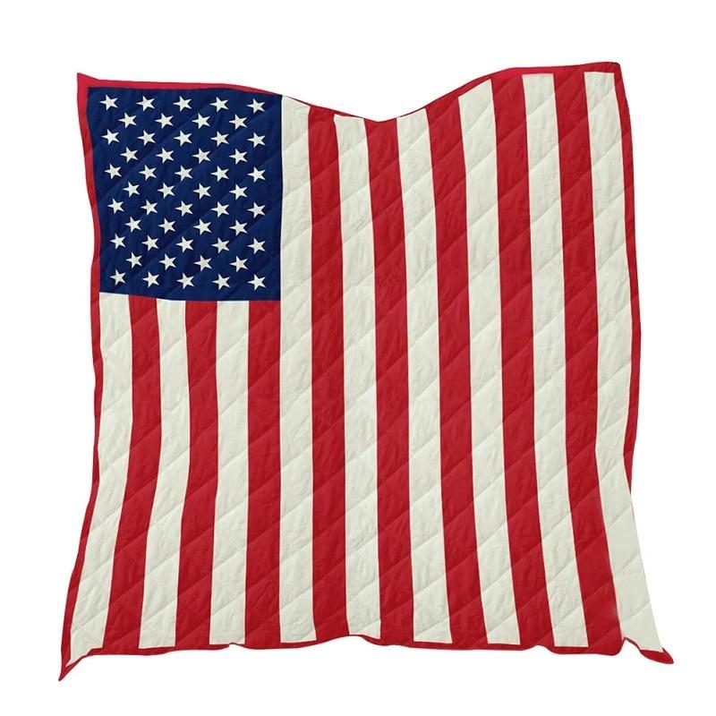 Американский флаг, звезды мягкое одеяло для путешествий на открытом воздухе кровать/одеяло для самолета Кемпинг Быстросохнущий пляжный купальник тренажерный зал полотенце для Ванной Душа - Цвет: Красный