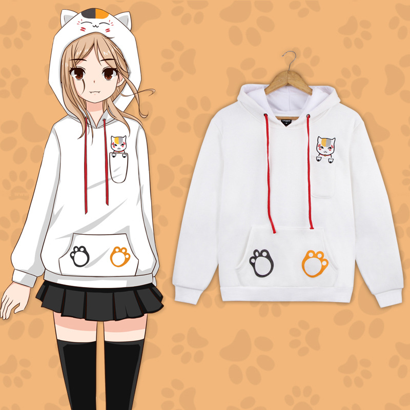Anime Natsume Yuujinchou Nyanko Sensei Cat Cute Sweatshirt Cosplay Costume Natsume Takashi Men & Women Hooded Hoodie