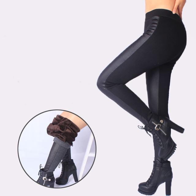 Inverno das Mulheres Novas Legging Emenda Grosso Grande tamanho XXXL 5XL Super Macio Elástico Das Mulheres Calças de Todos Os Jogos Calças Magro Perfeito