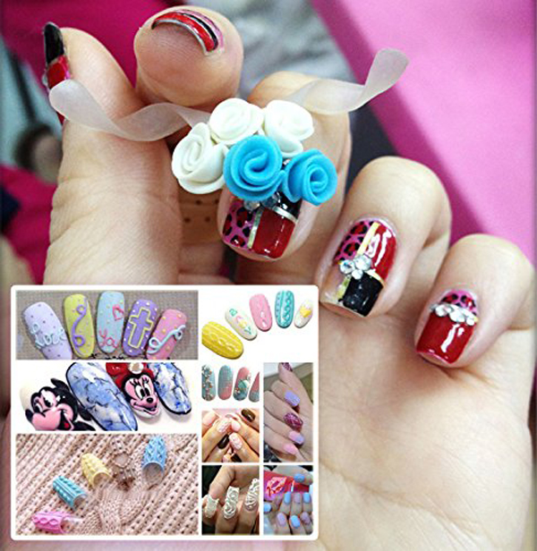 24pcs 3d Jewelry Sti Nails Fabulous Us Gossip Style Nail Art With 2g Easy Glue In False From Beauty Health On Aliexpress