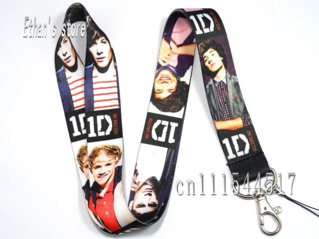 Free Shipping ONE DIRECTION Charm Lanyard For Collection