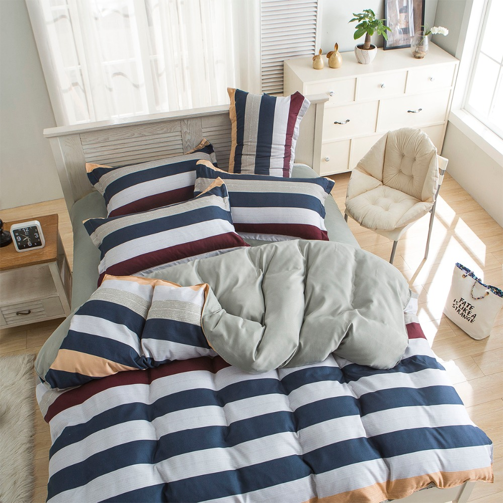 Modern bed sheet design - New Design Simple Modern Style 3pcs 4pcs Bedding Set Duvet Comforter Cover Bed Sheet