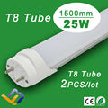 2pcs/lot  Factory Sale  25W  125leds T8 LED Tube Light 1500mm  SMD 2835 ,Replace led fluorescent tubes,AC85-265V,3years Warranty