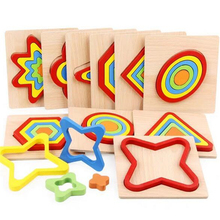 Shape Cognition Board Childrens Jigsaw Puzzle Wooden Toys Kids Educational Toy Baby Montessori Learning Match Bricks Toys