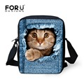 2016 New spain bag zoo animal children school bags denim blue kids kindergarten baby schoolbag cute cat dog boy mochila infantil