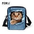 2016 Nueva españa bolso zoo animal children school bolsas de mezclilla azul niños de kindergarten bebé mochila cute cat dog boy mochila infantil
