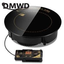 DMWD 2000 Вт/2200 Вт круглая электрическая Магнитная индукционная плита, Встроенная мини-варочная панель с проводом, водонепроницаемая плита с горячим горшком, варочная панель
