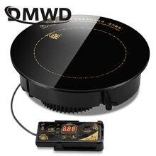Круглая электрическая Магнитная индукционная плита DMWD 2000 Вт/2200 Вт, Встроенная мини-проводная контрольная варочная панель, водонепроницаем...