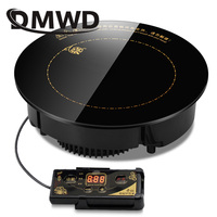 DMWD 2000W/2200W Round Electric Magnetic Induction Cooker Embedded Mini Wire control Hob Waterproof Hot Pot Stove Cooktop Burner