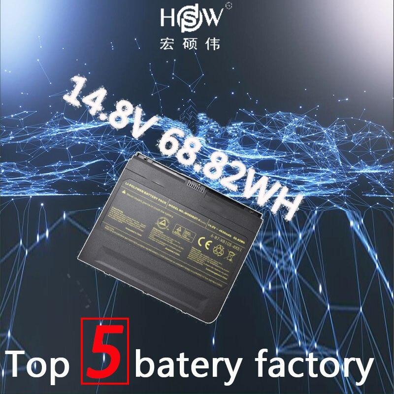 HSW 14.8 v 4650 mah 68.82wh Batterie Pour Clevo M980BAT-4, 6-87-X810S-4X5 X8100 M980NU bateria akku