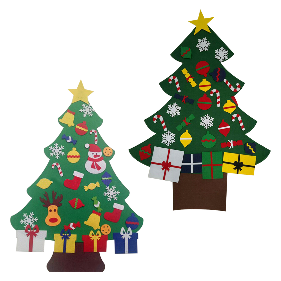 Hot Sale Hot Sale Kids DIY Felt Christmas Tree with Ornaments ...