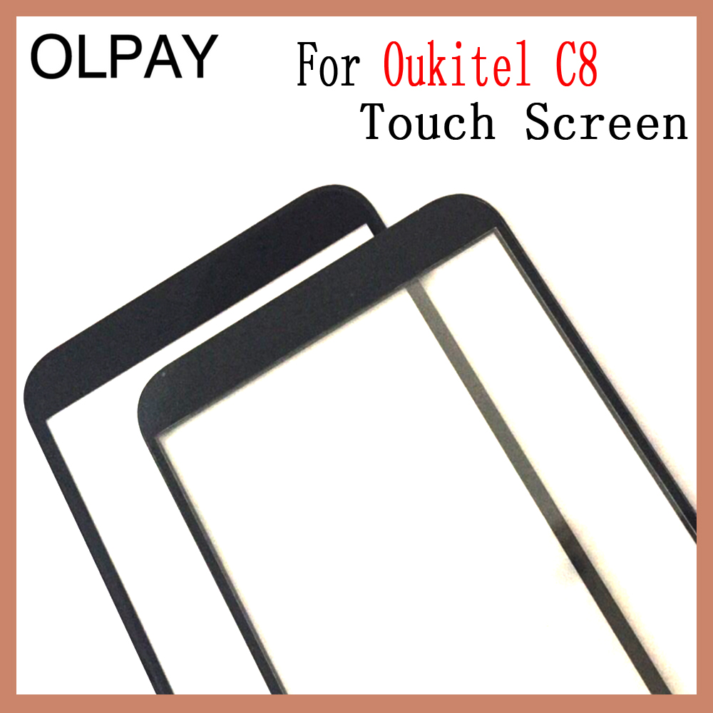 Image 3 - OLPAY 5.5'' Touch Glass Panel For Oukitel C8 Touch Screen Digitizer Glass Sensor Tools Free Adhesive+Clear Wipes-in Mobile Phone Touch Panel from Cellphones & Telecommunications