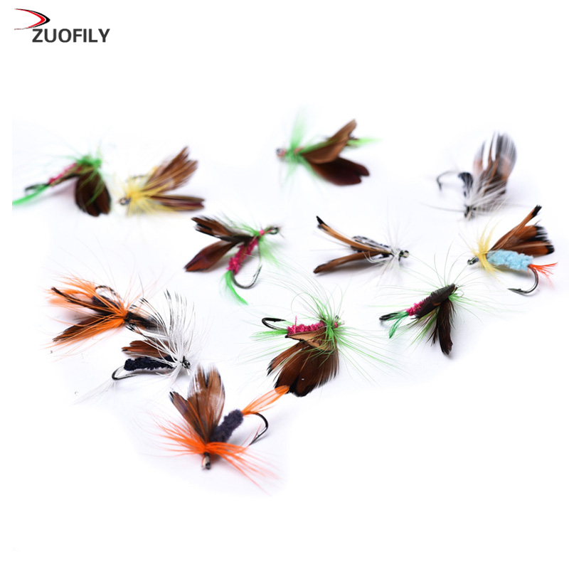 12pcs/set Various Dry Fly Fishing Trout Salmon Dry Flies Fish Hook Lures fishing fishing pesca salmon