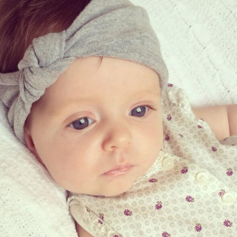 Baby Toddler Cute Girls Kids Hair Accessories Bow Hairband Hot Sale Turban Knot Rabbit Headband Summer Style Headwear 8 Color