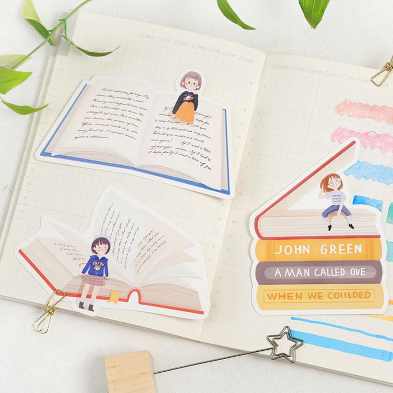 30 Pcs Box Books Travel Heteromorphism Postcard Cute Books Shape