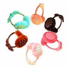 The most New Girls Dot Bow Plush Earmuffs Warm Autumn And Winter Fashion Winter Earmuffs
