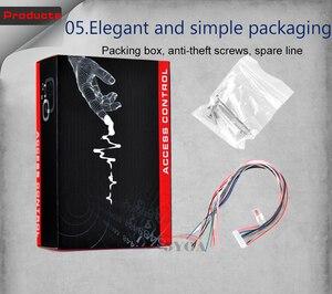 Image 5 - Su geçirmez Metal Dokunmatik 8000 Kullanıcıları Kapı RFID Erişim Kontrolü Tuş Takımı Okuyucu 125 khz EM4100 KIMLIK Kartı