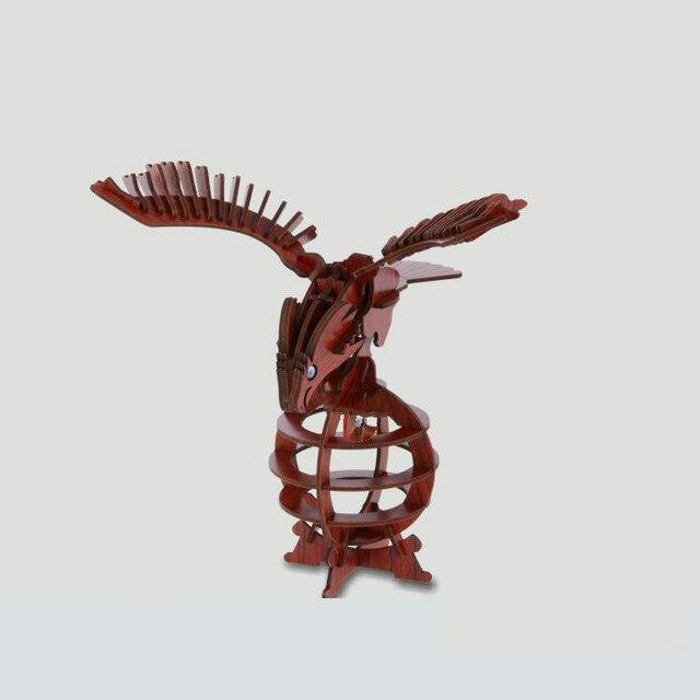 3D Wooden Toys Puzzle Children Eagle Annatto Simulation Model Animals 3d Wooden Puzzles For Children