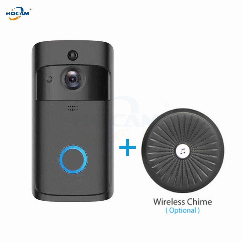 HQCAM bezprzewodowy dostęp do internetu wideodomofon wizjer wbudowaną kamerą Wi Fi inteligentny bezprzewodowy wideo domofon dzwonek do drzwi wideo doorbel otrzymać telefon zwrotny od do mieszkania IR alarmu w Kamery nadzoru od Bezpieczeństwo i ochrona na AliExpress - 11.11_Double 11Singles' Day 1