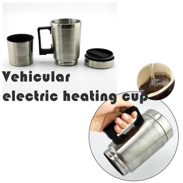 Hot Automatic Electric Bottle Portable Car Water Heater Travel Cup Heating Kettle Tea Pot Stainless Steel Coffee Mug
