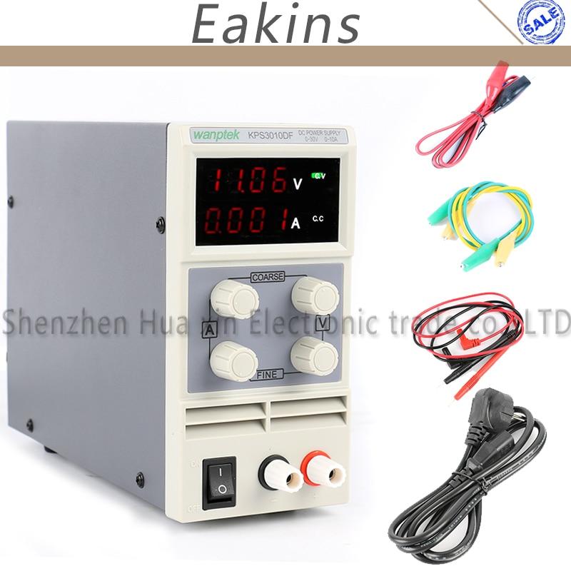 KPS3010DF 0-30 V/0-10A 110 V-230 V 0,01 V/0.001A UE Digital LED de conmutación ajustable fuente de alimentación DC mA Pantalla de 4 dígitos