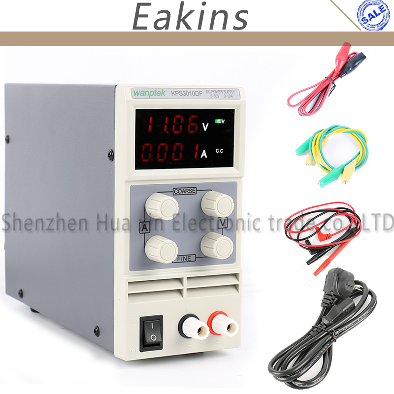 KPS3010DF 0-30 V/0-10A 110 V-230 V 0,01 V/0.001A EU LED Digital Einstellbar schalter Dc-netzteil mA Display 4 Ziffern