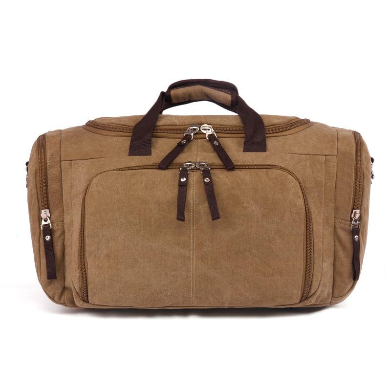 Vintage Canvas Stora Enkla Män Rese Väskor Kvinnor Bagage Rese - Väskor för bagage och resor - Foto 4