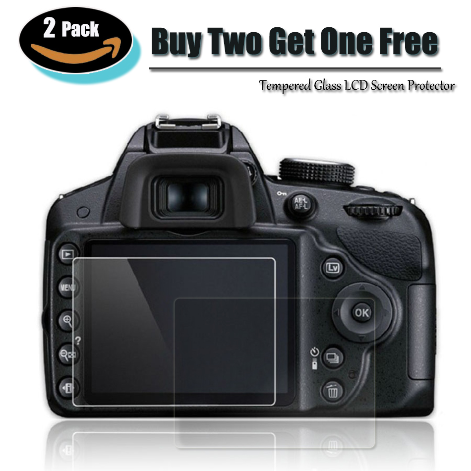 Camera Lcd Screen 2 Pack 9h Tempered Glass Lcd Screen Protector For Canon Sx70 Hs Eos 6d Mark Ii 2 760d 750d T6i T6s 800d T7i 100d Sl1 200d Sl2 Camera & Photo Accessories