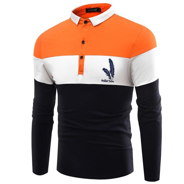 65d9316e5dc0b Los hombres de la Marca Polo Ropa Remiendo de la Impresión de la Pluma  Famosa Camisa