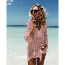 Beach Cover Up Swimsuit Cover Up Tunics For Beach Pareos For Women 2019 Knitting Hollow Saida De Praia Pareo Wear Summer Dress