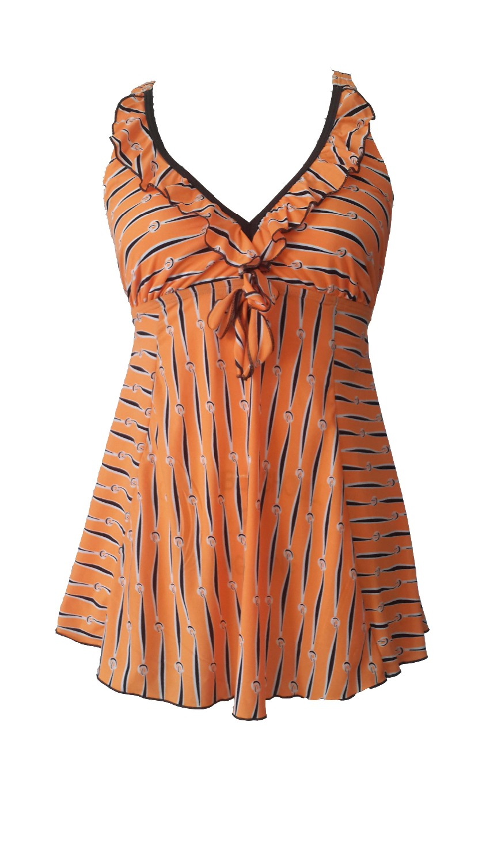 2017 monokini plus size bathing suit hot orange new swimming suit for women swimwear xxl One-Piece Suits plus size swimsuit