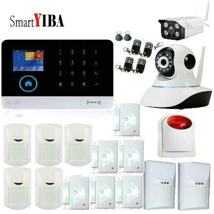 SmartYIBA Android App управление беспроводной Wi Fi GSM домашней охранной сигнализации системы SMS RFID Беспроводной интеллектуальный pet Senior Kit