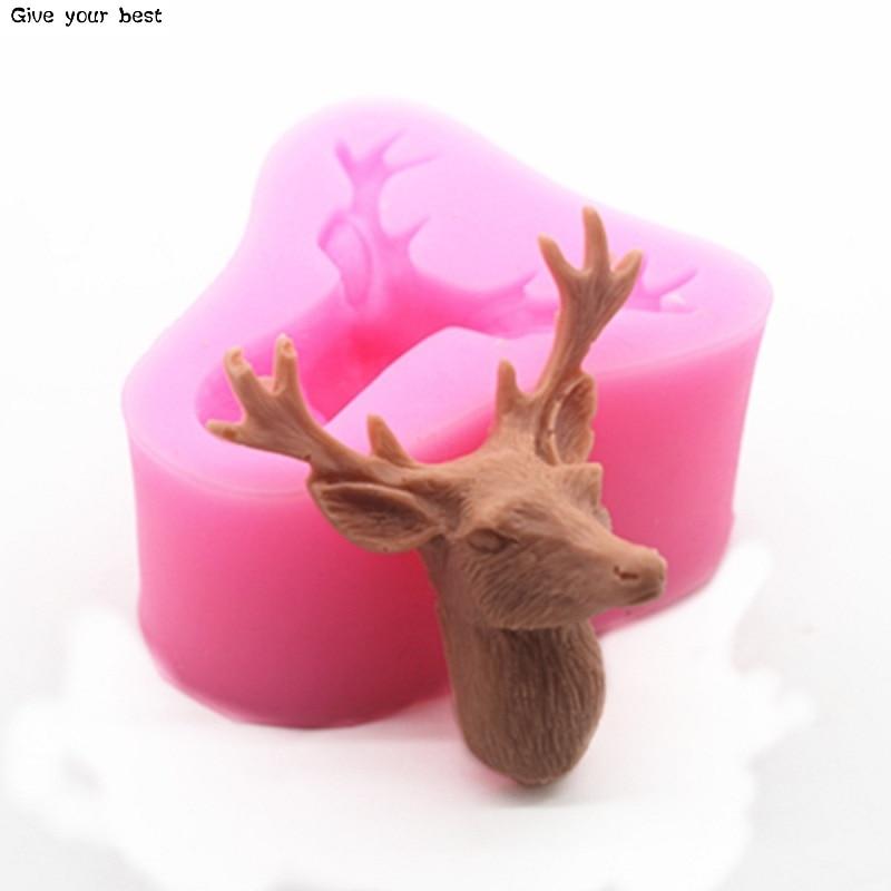 3D tête de cerf moule noël cerf Fondant gâteau Silicone moules - Cuisine, salle à manger et bar - Photo 5