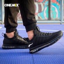 ONEMIX Homens Runing sapatos KPU Air Mesh Sola de Inverno Ao Ar Livre Ocasional de Jogging Ao Ar Livre Ginásio de Fitness Tênis De Amortecimento De Ar Max 12