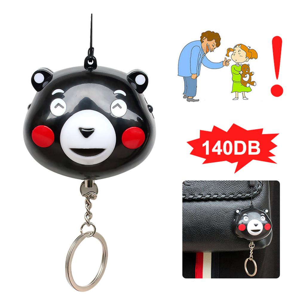 Women's Anti-Wolf Security Alarm Accessories Anti-Lost Little Bear Shape Children's Super Loud Rescue Backpack Hanging Ornaments