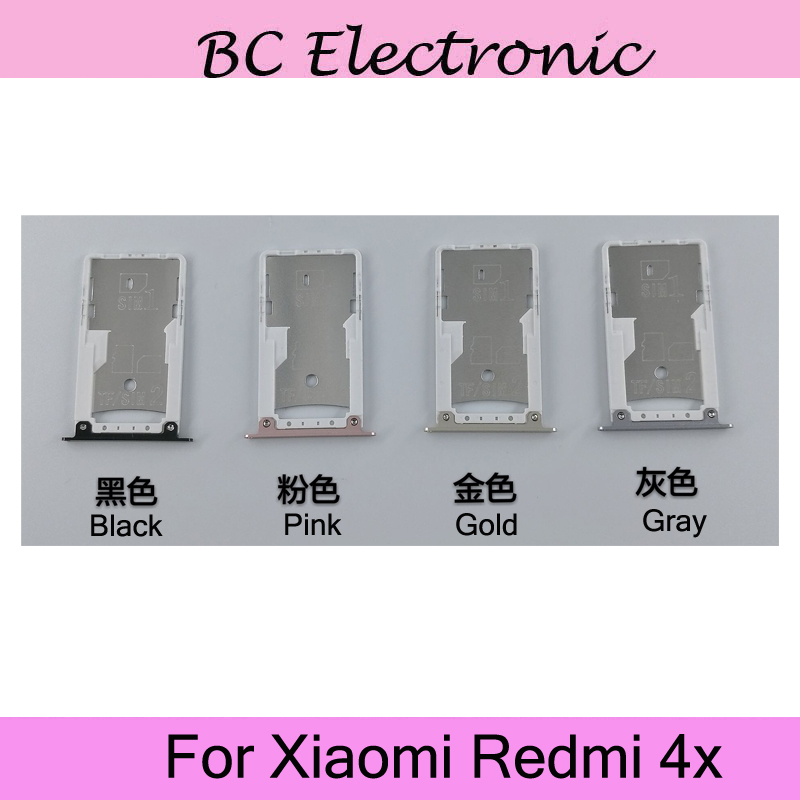 Original For Xiaomi mi Redmi 4x 4 X Nano Sim+Micro SD Card Tray Holder Slot Socket Replacement Parts For Xiaomi mi Redmi4x