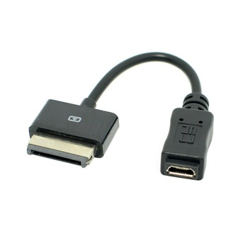 100pcs/lot Micro USB 5pin Female to USB 40Pin Charger Data Cable for EeePad Transformer TF101 TF201 SL101 Prime