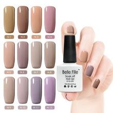 Belle Fille 10ml Nude Color UV Gel Nail Polish Holographic Primer Esmalte Gel Lak  UV LED Gel Nail Lakiery Hybrydowe Gel Lacquer