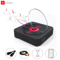 Portable AV Port DVD Player Wall Mounted Bluetooth HiFi CD Music Player with Remote Control FM Radio Boom box Desk Stand