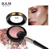 D. S. M. Polvo prensado con acabado de piel, maquillaje facial resistente al agua, bronceador, cosméticos, polvo compacto Mineral