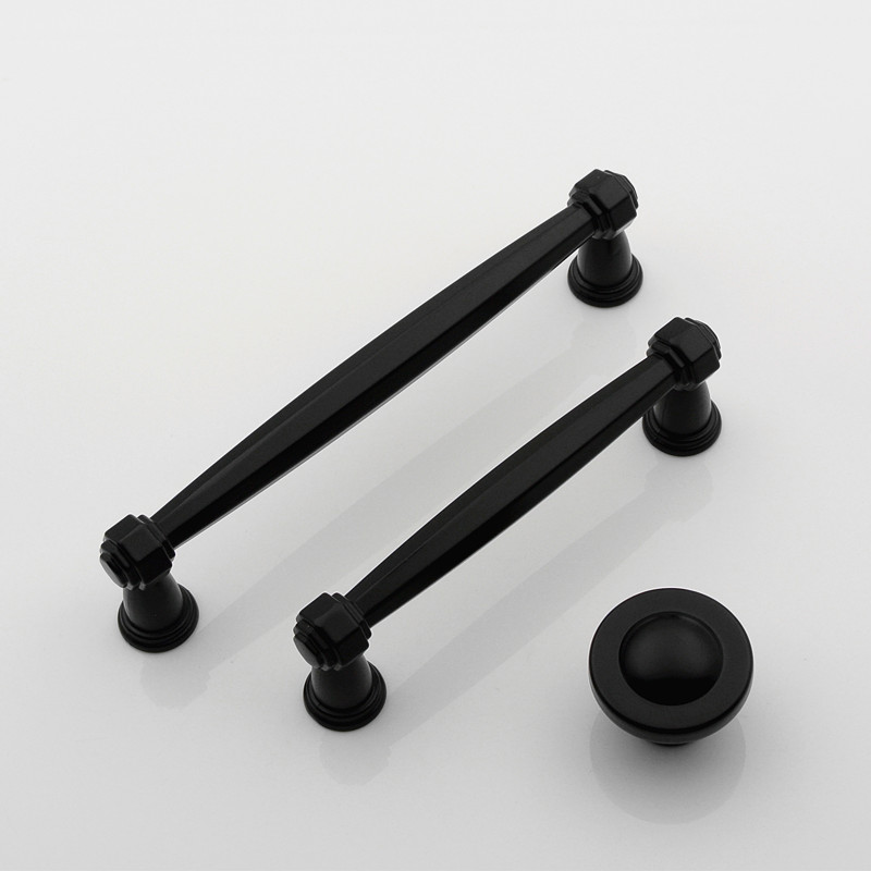 3.75 5 Black Drawer Knobs Dresser Pulls Handles Cupboard Knob Retro Modern Chic Kitchen Cabinet Door Handle Furniture Hardware furniture handles wardrobe door pulls dresser drawer handles kitchen cupboard handle cabinet knobs and handles 64mm 96mm 128mm