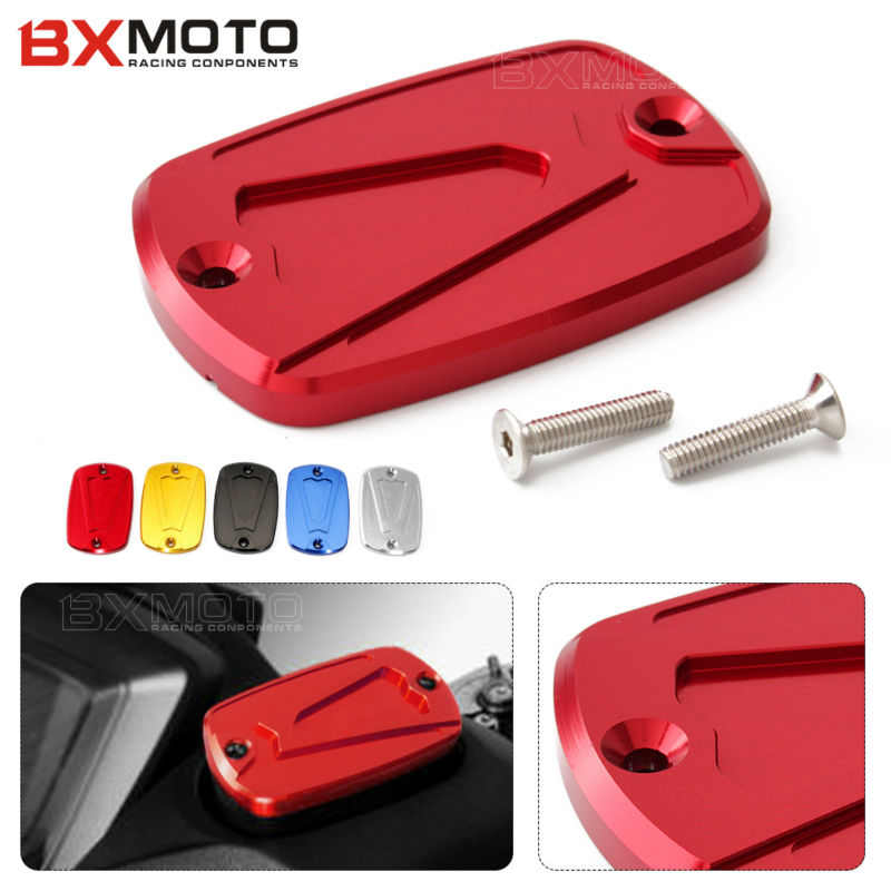 T MAX 530 500 Motorcycle accessories CNC Aluminum Red Brake Fluid Reservoir Cap cover For Yamaha T-max tmax 500 530 tmax530 useful bicycle stem cnc aluminum bike headset cover cap 1 1 8 red