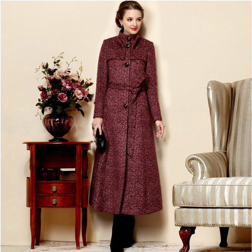 964e24a7b8897 2019 Fashion Autumn Winter Women Long Coats Plus Size Warm Wool Coat  Cashmere Overcoat Female Ultra Long Wool Jackets