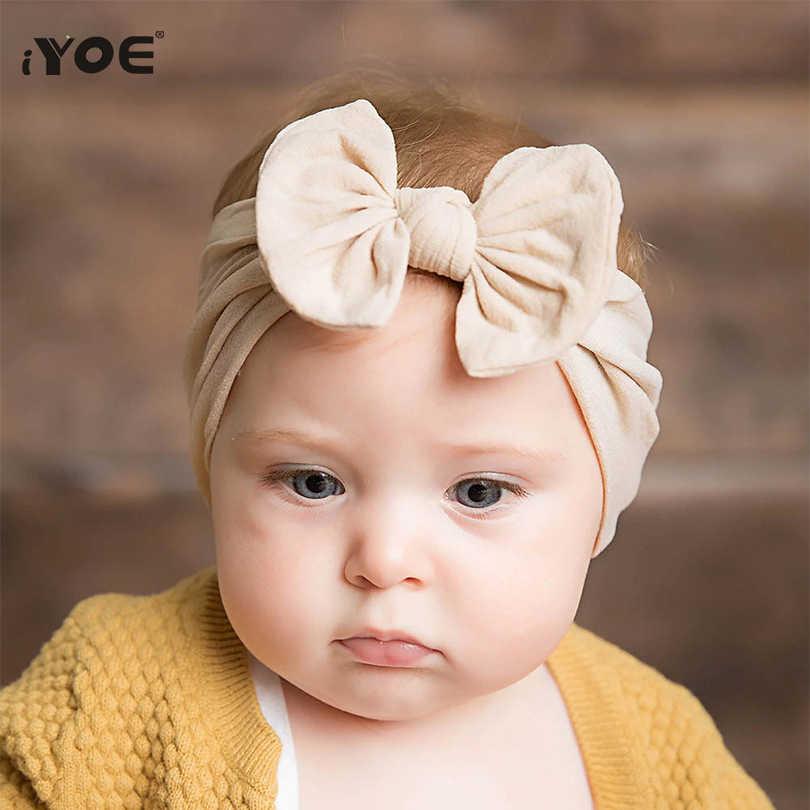 หลายสี Bow Hairband สำหรับสาวทารก Headband ทารกแรกเกิด Headdress ของขวัญ Photo Props เด็กทารกยืดหยุ่นเด็กอุปกรณ์เสริมผม