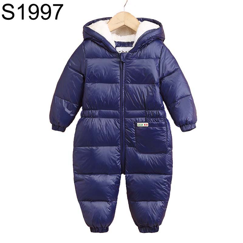 2017 New Winter Baby Rompers Girls Boys Duck Down Clothes Cartoon Hooded Rompers Jumpsuits Infants Kids Winter Warm Clothes russia winter boys girls down jacket boy girl warm thick duck down