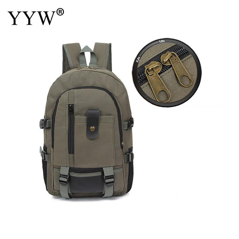 YYW Fashion Canvas Laptop Backpack MenS Backpack New High Quality School Bag For Teenager Boy Back Bag Mochila Masculina