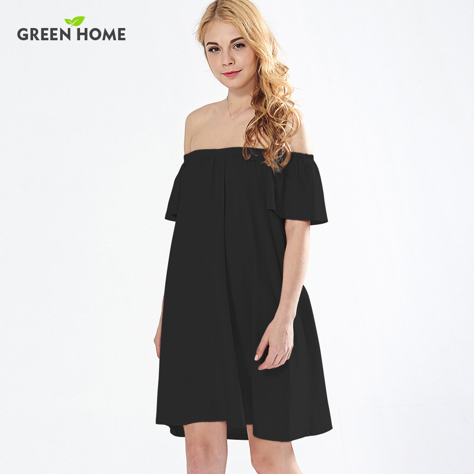 Green Home Summer Shoulderless Pregnancy Dress Ruffles Maternity Dresses Evening Pregnant Dress Fashion Maternity Clothing
